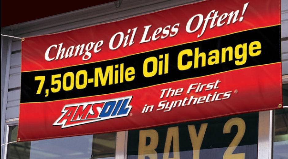 AMSOil - 7,500 Oil Change Banner